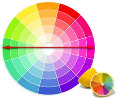 Выбор цветов по цветовому кругу