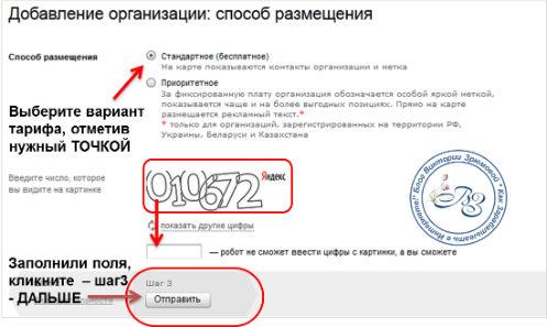 Как оформить способ размещения объявления в Яндекс Справочнике