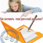 Как составить план e-mail рассылки!